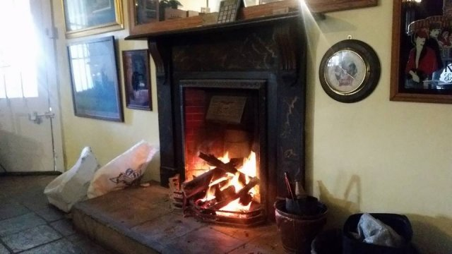 fire in the pub